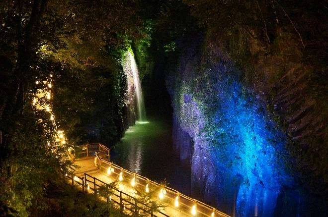 高千穂峡竹灯籠ライトアップ開催のお知らせ